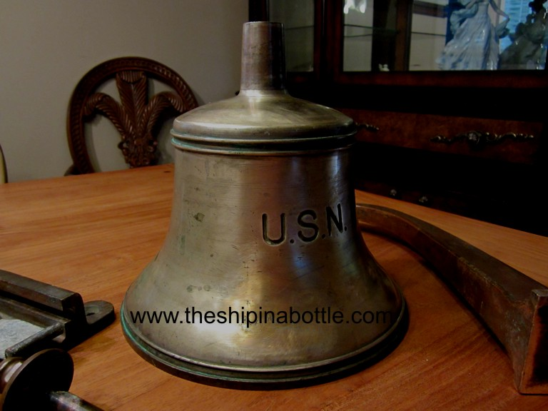 Close-up of WW-I Era Fore Deck Bell