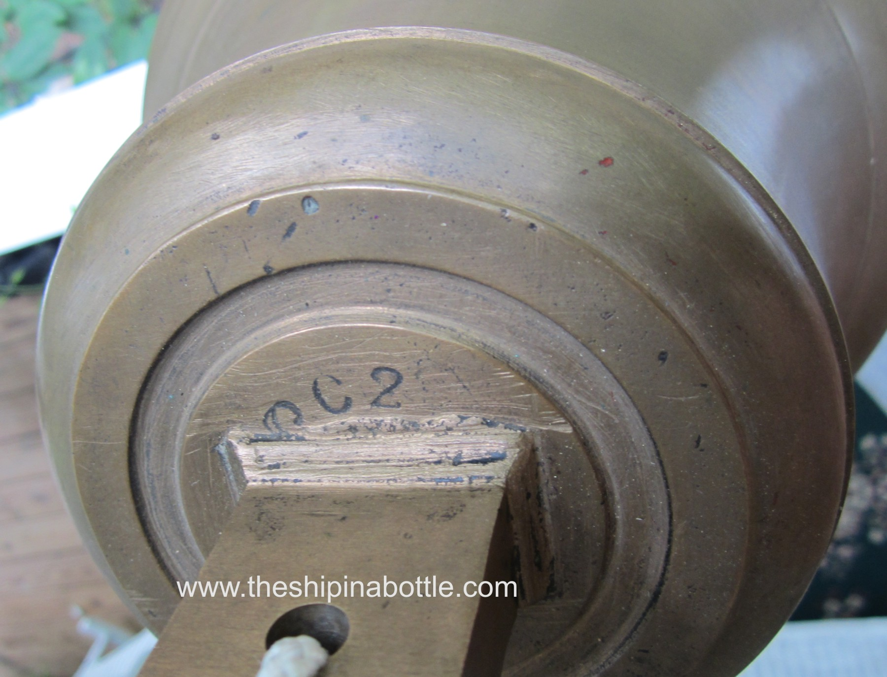 Markings on commercial fishing bell